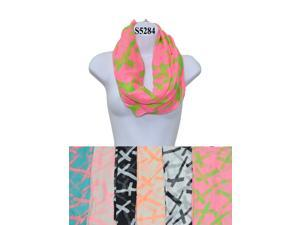 12 Pieces Wholesale Lot Women Lady Girls Infinity Color Block Chunk Circle Double Loop Scarf Wrap. S5284