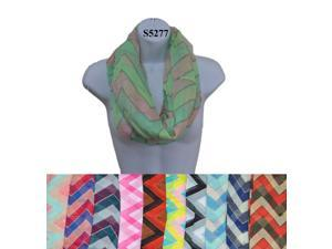 12 Pieces Wholesale Lot Women Infinity Chevron Zig Zag Color Block Chunk Circle Double Loop Scarf Wrap