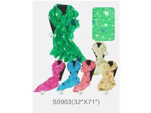 12 PCS Wholesale STARS PRINT Fashion Large Soft Shawl Scarf Wrap Long Stole. S0903