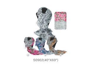 12 PCS Wholesale Leopard Cheetah Animal Print Shawl Scarf Scarves Wrap Stole Two-Tone. S0902