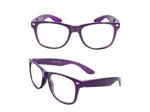 Stylish Wayfarer Sunglasses Purple Design with Clear Lenses for Women and Men