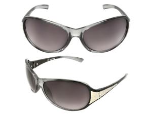 MLC Eyewear TU9162-BKCLPB Wrap Fashion Sunglasses Black Clear Frame Purple Black Lenses for Men and Women