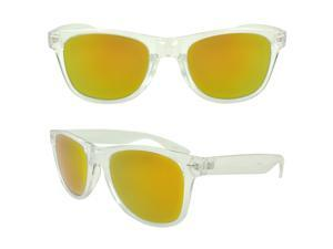 MLC Eyewear St. Lucas Wayfarer Fashion Sunglasses, Orange yellow