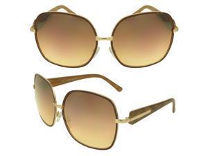 MLC  Eyewear 'Lemma' Shield Fashion Sunglasses in Amber