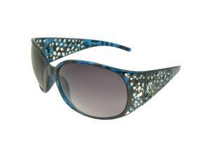 MLC Eyewear 'Erin' Shield Fashion Sunglasses in Black-blue