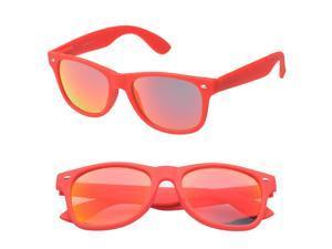 MLC Eyewear Wayfarer Fashion Sunglasses in Red Frame Red Lenses