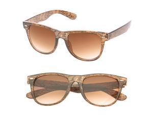 MLC Eyewear 'Giana' Black Lace Wayfarer Fashion Sunglasses in Brown