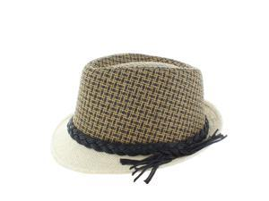Faddism Fashion Fedora Hat in Brown