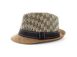 Faddism Fashion Fedora Hat in Coffee