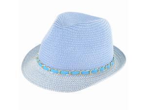 Faddism Fashion Fedora Hat in Blue