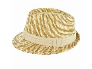 Faddism Fashion Fedora Hat in Tan