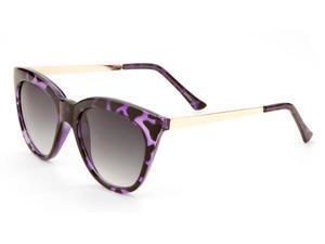 MLC Eyewear 'Gale' Retro Hipster Fashion Bold Horn Rimmed Wayfarer Style Sunglasses Purple-leopard