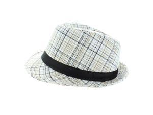 Faddism Fashion Fedora Hat in White