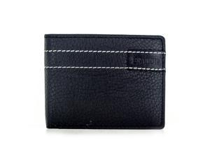 Faddism Brandio Series Men's Leather Bifold Wallet WLT-CN-1305 Black