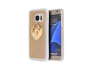 Samsung Galaxy S7 Golden Diamond Ring Tpu Case, Gold