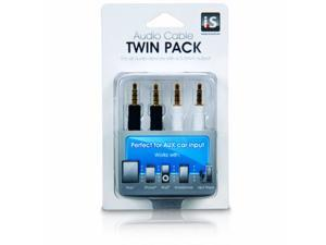 i.Sound ISOUND-1609 I Sound 3 5mm audio cable twin pack