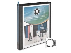 "View Binder w/ 2 Inside Pockets 1/2"" Capacity Black"