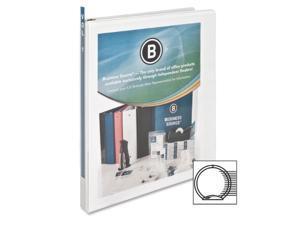 "View Binder w/ 2 Inside Pockets 1/2"" Capacity White"