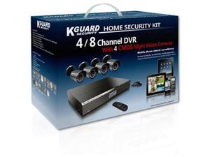 KWorld Kguard KG-CA24-C02 Video Surveillance System w/ 4 CMOS Cameras & 500GB HDD Complete Kit