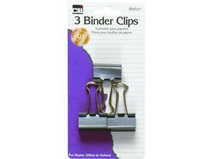 "CLI 50500 Binder Clip, 1.3"" Width - 1 / Pack - Black Color - Steel Material"