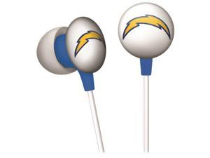 iHip NFF10200SDC NFL San Diego Chargers Mini Ear Buds, Blue/Yellow