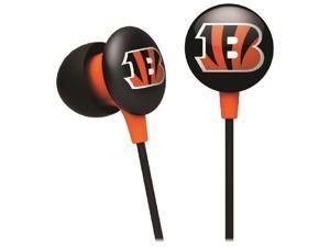 iHip NFF10200CBE NFL Cincinnati Bengals Mini Ear Buds, Orange/Black