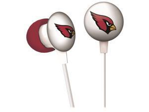 iHip NFF10200AZC NFL Arizona Cardinals Mini Ear Buds, Red/Black