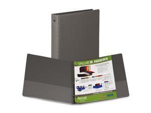 Samsill Corporation SAM11311 3-Ring Binder- w-Pckts- Vinyl- 200 SH Cap.- 1in.- 24-CT- Gray