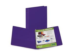 Samsill Corporation SAM11308 3-Ring Binder- w-Pckts- Vinyl- 200 SH Cap.- 1in.- Purple