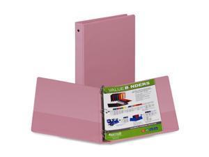 Samsill Corporation SAM11393 3-Ring Binder- w- 2 Pockets- 1in.- Flexible Hinge- Pink