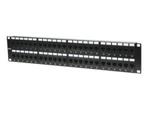 Intellinet Cat6 UTP 48-Port Patch Panel, 2U - Compatible with both 110 and Krone punch down tools