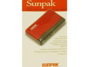 Sunpak All In One Card Reader USB 2.0 - Red