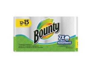 Bounty 88197, Perforated Towel Rolls, 11 x 10 2/5, White, 55 Sheets/Roll, 12 Roll/Pack
