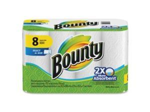 Bounty 88187 Select-a-Size Perforated Roll Towels, 2-Ply, White, 6 x 11, 70 Towels/Roll, 8/PK