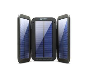 ReVIVE Backup Battery Solar Charger & 6000mAh Rugged Power Bank w/ 4W Active Charging Solar Panels for Phones , Tablets , & MP3 Players