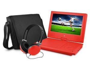 "Ematic 9"" Portable DVD Players with Headphones and Bag"