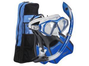 US Divers 278310 Aqua Lung Admiral Island Trek Travel Set Bag, Electric Blue