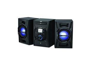 RCA RS3697BL CD Mini System with Bluetooth(R) & Multicolored LED Speaker Lights
