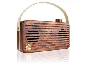 GOgroove Universal Retro Wood Bluetooth Speaker BlueSYNC WUD with Wireless NFC Technology , Integrated Microphone and Portable Carry Handle - Works with Apple , Samsung , LG , HTC , Sony and More