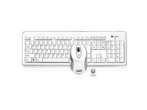 i-rocks RF-6572L-WH White Wireless Slim Keyboard and Laser Mouse Set