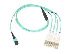 Fiber Optic Network Cable   /FBR PLMN OM3 12F MTP/4XDPLX LC 40GB 50/125 AQ 1M F2CF005-1M
