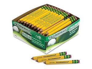Woodcase Golf Pencil HB #2 Yellow Barrel 72/Box
