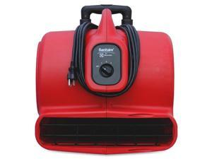 Electrolux Floor Care Company SC6054 Commercial Three-Speed Air Mover with Built-on Dolly, 5.0 Amp, Red, 25-Ft Cord