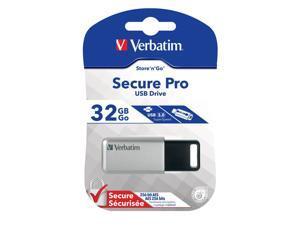 Verbatim Store 'n' Go Secure Pro 32GB USB Flash Drive Model 98665