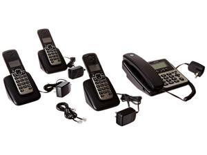 MOTOROLA M804C DECT 6.0 4-Handset Digital Cordless/Corded Phone System with Answering Machine