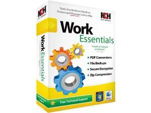 WORK ESSENTIALS SUITE NCH SOFTWARE (WIN XPVISTAWIN 7WIN 8/MAC OS X10.3 OR LATER)