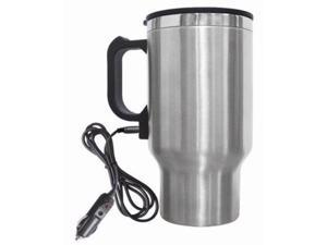 Brentwood CMB-16C Stainless Steel Electric Coffee Mug W/wire Car Plug