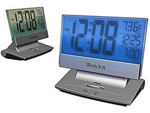 WESTCLOX 72021 Extra-Large, Thin LCD Alarm Clock with Temperature, Day/Date & Alarm Indicator
