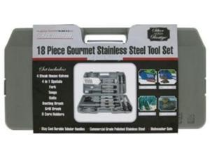 Mr. Bar.B.Q 18 Piece Gourmet Stainless Steel Tool Set - 18 Piece(s) - Plastic, Stainless Steel