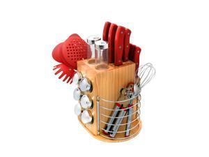 Ragalta  PLCKS-200R  31 Piece Carousel Knife & Kitchen Tool Set